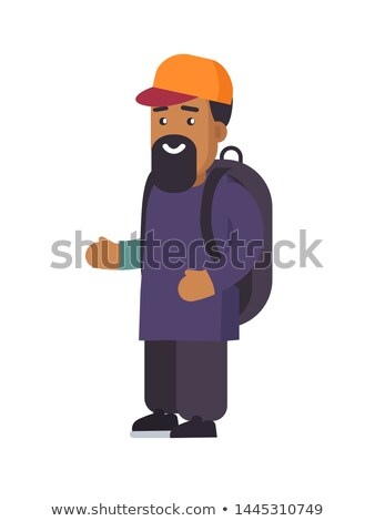 Person Wearing Cap on Head, Muslim Refugee Person Stock photo © robuart