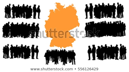immigration people silhouette moving to europe Stock photo © doomko