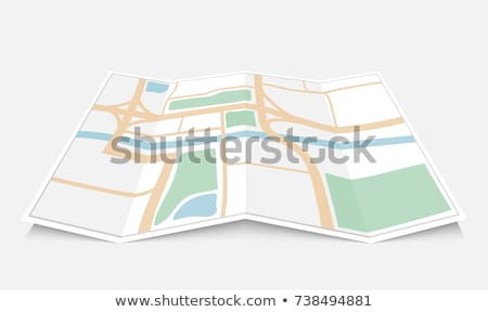 Isolated map and location  Stock photo © bluering
