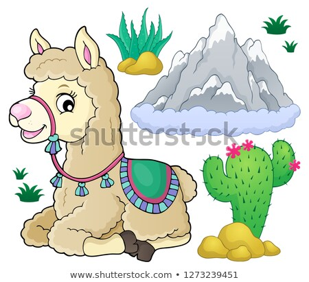Llama and nature theme set 1 Stock photo © clairev