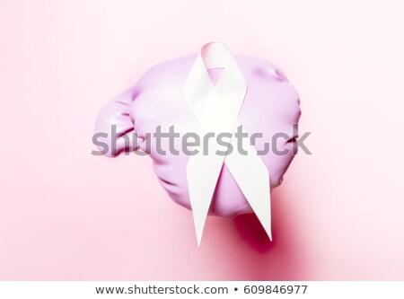 Box liget rózsaszín verekedés rák nő Stock fotó © Lopolo