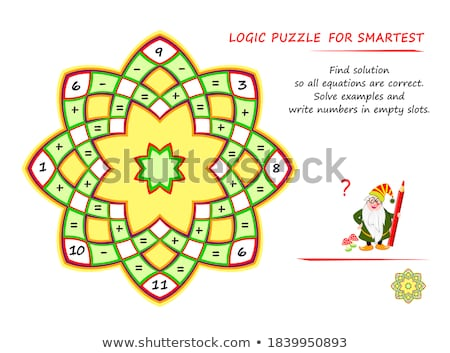 correctly solve example game thinking Stock photo © Olena