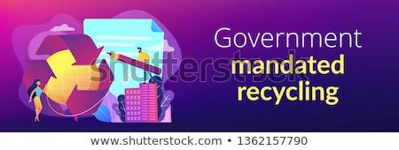 Overheid recycling banner schrijven nieuwe Stockfoto © RAStudio