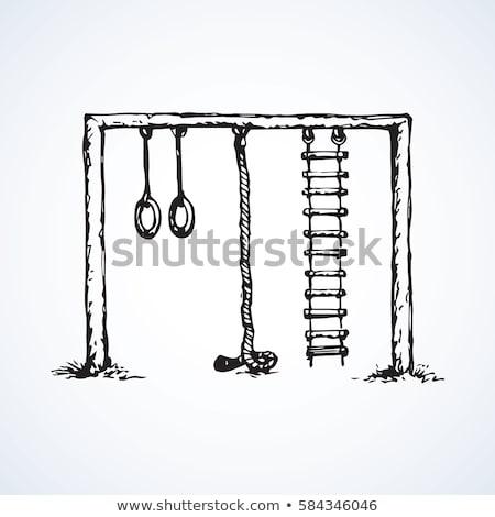 firka · cirkusz · akrobata · izolált · fehér · kitűnő - stock fotó © rastudio