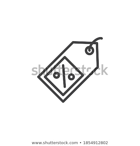 Descuento lineal estilo porcentaje circular Foto stock © robuart