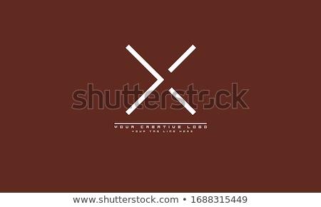 logo x letter symbol element logotype sign Stock photo © blaskorizov