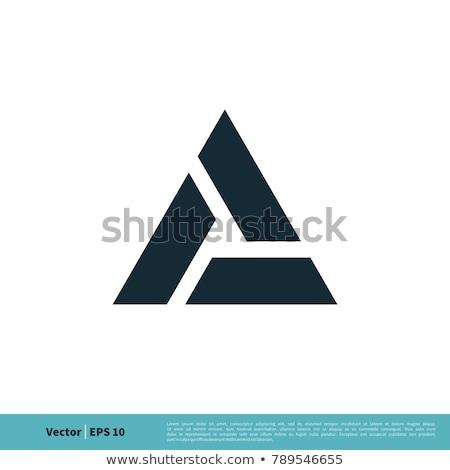 Tech бизнеса аннотация треугольник вектора логотип Сток-фото © blaskorizov