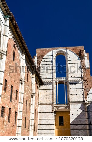 Old window at Facciatone in Siena, Italy Stock photo © boggy