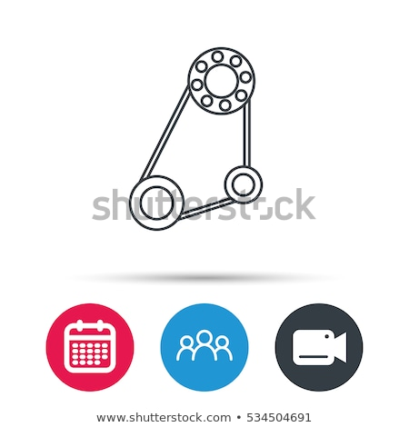 Timing belt icon. Generator strap sign. Repair service symbol. Engine mechanism. Vector illustration Stock photo © kyryloff