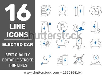 Ingesteld elektrische auto illustratie huis home technologie Stockfoto © bluering