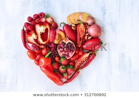Heart from red cherry Stock photo © ijalin