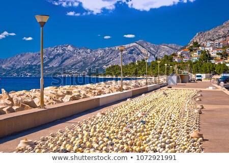 Bord de l'eau pêche vue plage eau mer Photo stock © xbrchx