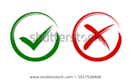 green checkmark ok positive and red cross x negative icons stock photo © ussr