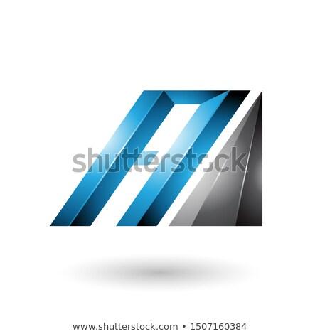 青 黒 手紙 対角線 バー ストックフォト © cidepix