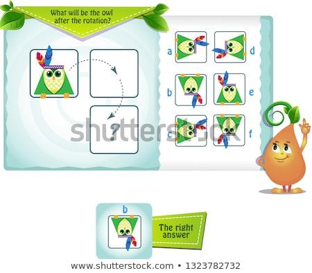 Coruja rotação jogo crianças adultos Foto stock © Olena