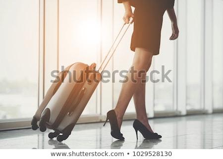 Kadın bacaklar havaalanı örnek kız seksi Stok fotoğraf © adrenalina