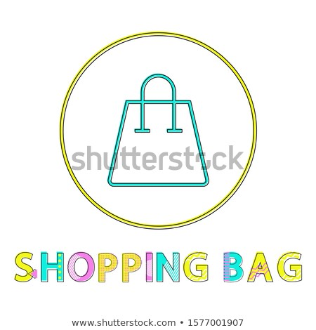 Shopping Bag Glyph Color Lineout Minimalist Icon Stock photo © robuart