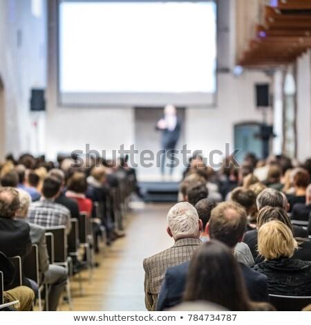 Foto stock: Profissionais · conferência · seminário · pessoas · discutir