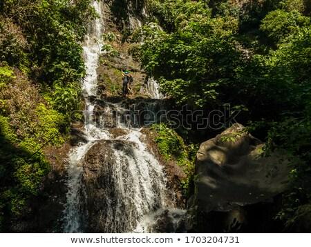 Zeven watervallen El Salvador bos landschap reizen Stockfoto © benkrut