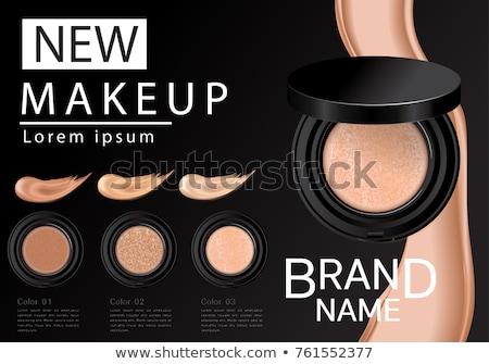 vector makeup cosmetics round concept stock photo © dashadima