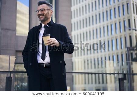 изображение исполнительного директор человека носить Сток-фото © deandrobot