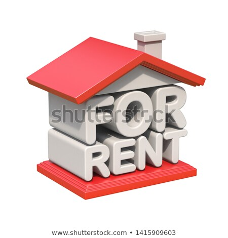 FOR RENT house sign orthogonal view 3D Stock photo © djmilic