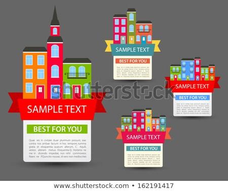 Kleur vintage onroerend agentschap embleem symbool Stockfoto © netkov1