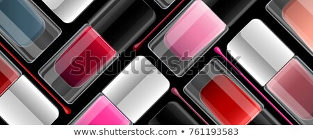 Bottle Of Rose Nail Polish Product Banner Vector Stock photo © pikepicture