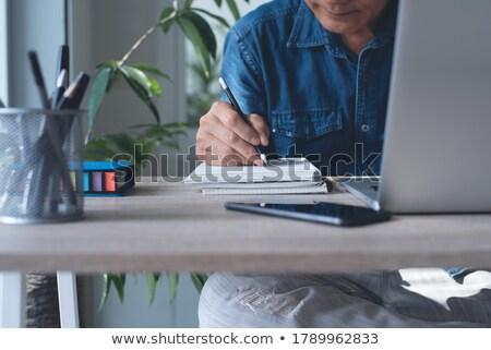 netwerken · man · hand · technologie · zakenman - stockfoto © pressmaster
