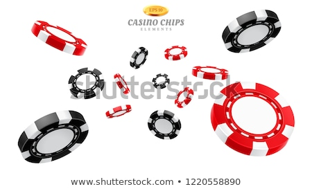 Kumar cips ikon beyaz dizayn imzalamak Stok fotoğraf © smoki