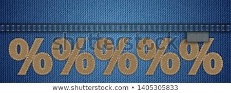 tekstballon · jeans · business · mode · abstract · achtergrond - stockfoto © limbi007