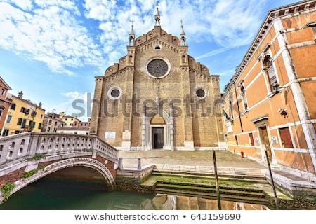 Bazylika Święty mikołaj Wenecja cegły fasada Włochy Zdjęcia stock © vapi