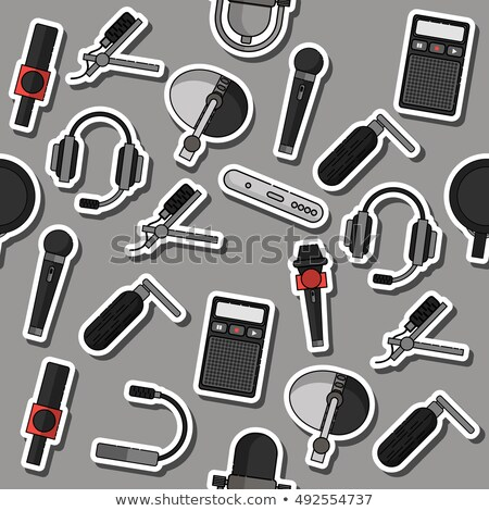 Different microphones types collage Stock photo © netkov1