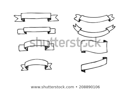 Website Decoration Element Ribbon Doodle Vector Stock photo © pikepicture