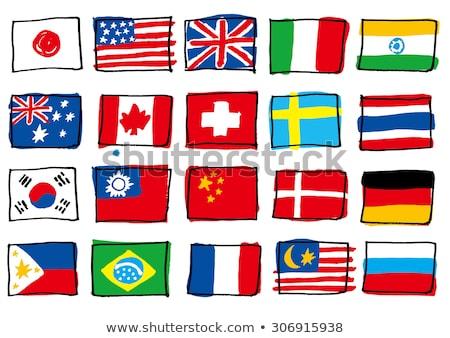 européenne · drapeaux · ensemble · icônes · alphabétique · ordre - photo stock © butenkow