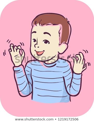 Dziecko chłopca symptom ręce ilustracja ruchu Zdjęcia stock © lenm