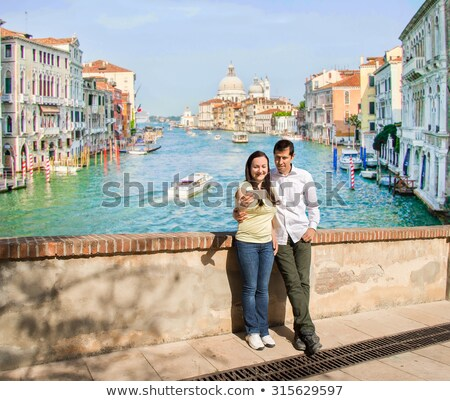 gelukkig · toeristische · paar · stad - stockfoto © andreypopov