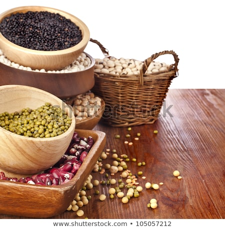 Various seeds and grains in bowls - close up Stock photo © lightkeeper