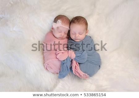 Yay doğum ikizler örnek çocuklar kalp Stok fotoğraf © adrenalina