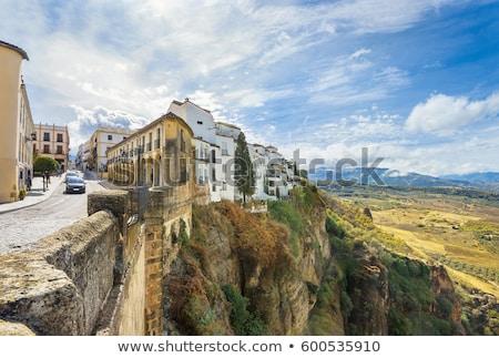 Straat Spanje historisch gebouw stad centrum Stockfoto © borisb17