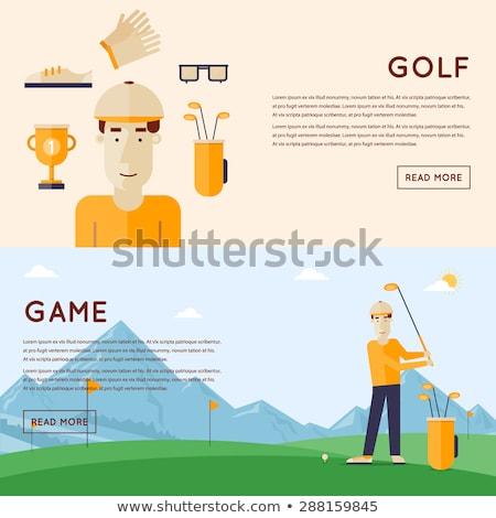 Gentleman a golfer on the golf course illustration  Stock photo © tiKkraf69