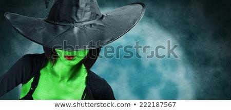 恐ろしい · 魔女 · 肖像 · 少女 · ハロウィン · 衣装 - ストックフォト © choreograph