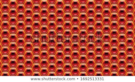 Red and Orange Embossed Hexagon Background Vector Illustration Stock photo © cidepix
