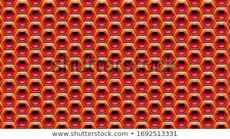 Piros narancs hatszög vektor illusztráció textúra Stock fotó © cidepix