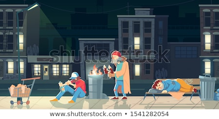 Sorrowful adult on the City Street Stock photo © Lopolo
