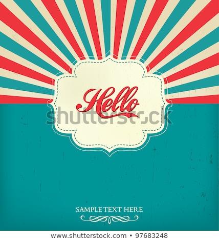 Retro stralen label ontwerp frame vintage Stockfoto © SArts