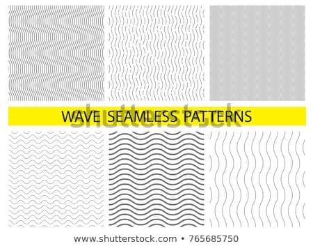 vektor · hullámos · vonal · végtelen · minta · modern · egyszerű - stock fotó © blumer1979