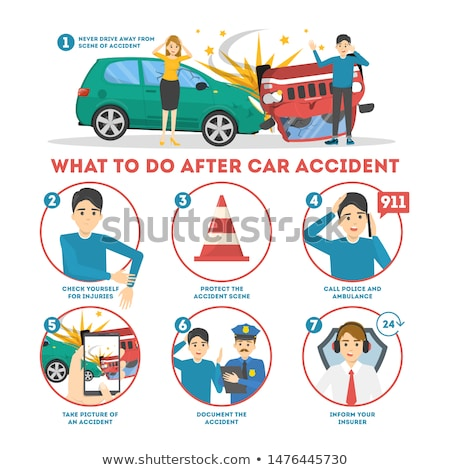 Road accidents and insurance service banner template Stock photo © Decorwithme