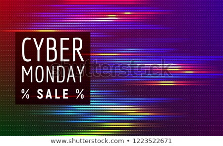 cyber monday technology circuit style background design stock photo © SArts