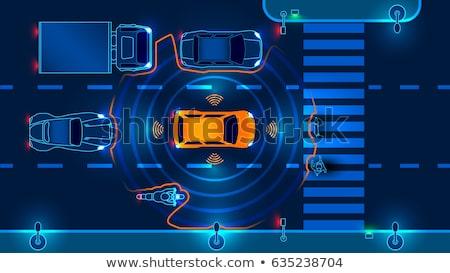 Intelligent vervoer stad verkeer beheer Stockfoto © RAStudio